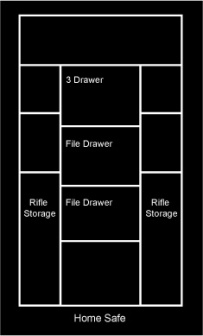 File Drawer or Jewelry Drawer with Long Gun Storage